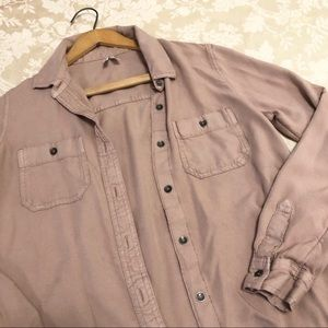 Mudd | Mauve Button Down Shirt Soft 100% Rayon Fab
